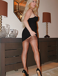 Saskia's Nylon Leg Show for FF Stockings,  Nylons plus Pantyhose